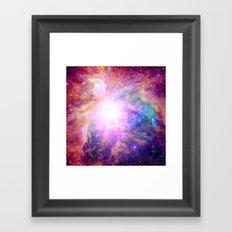 Galaxy Nebula Framed Art Print