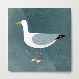Seagull Standing Metal Print