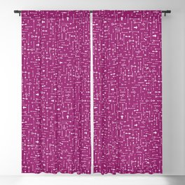Every Which Way - Fuchsia Blackout Curtain