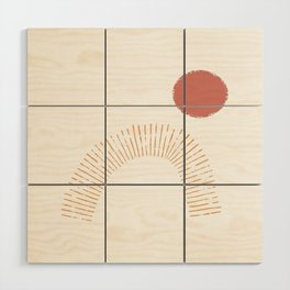 Red Sun Wood Wall Art