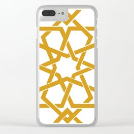 Yellow Islamic Geometric Art Clear iPhone Case