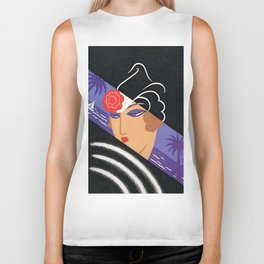 "Art Deco Design ""Winter Resort"" Biker Tank"