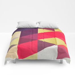Colorful and golden geometric triangles IV Comforters
