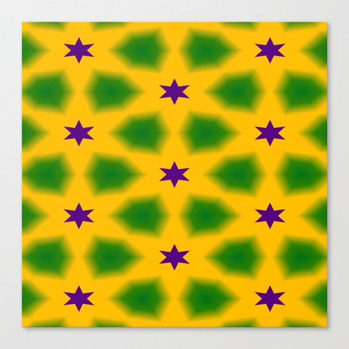 Mardi Gras Stars 3599 Canvas Print