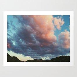 Cotton Candy Clouds Art Print