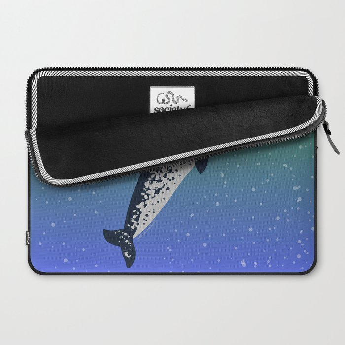 Happy Narwhal Laptop Sleeve