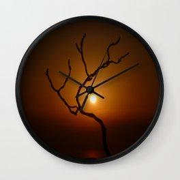 Evening Branch I Wall Clock