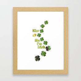 Irish Kisses - Happy St Patrick's Day Framed Art Print