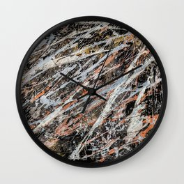 Copper Ore painting Wall Clock