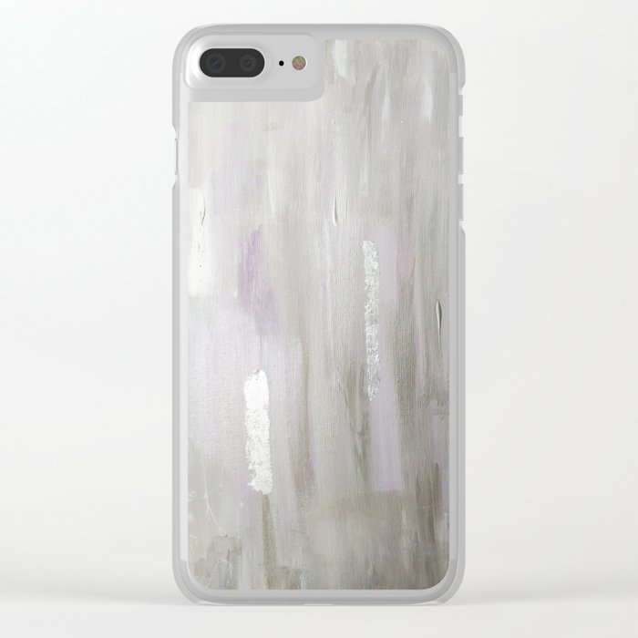 Lavender & Silver Clear iPhone Case
