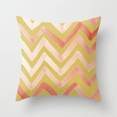 #02. Tierney (Chevrons, Gold variation for home accessories) Throw Pillow