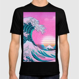 Vaporwave Aesthetic Great Wave Off Kanagawa T-shirt