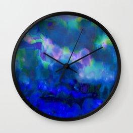 Watercolor Skies Wall Clock