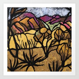 """""""A Mile Out of Alice Spings"""" Margaret Preston Art Print"""