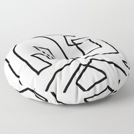 Abstract line art Floor Pillow