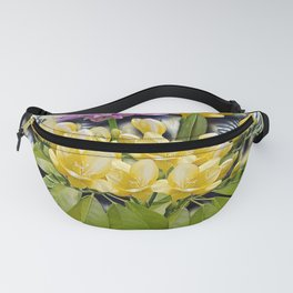 Spring Bouquet on Zebra Background Fanny Pack