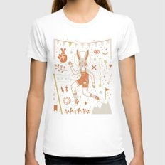The Trickster SMALL Womens Fitted Tee White