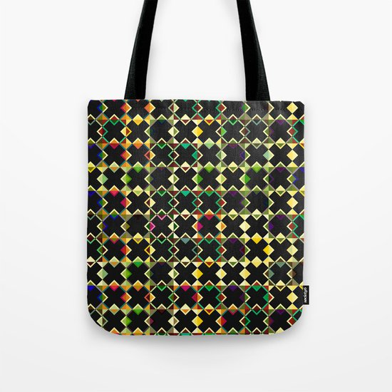 Abstract pattern made of black crosses Tote Bag
