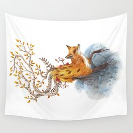 Fox Tree Wall Tapestry