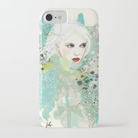 fashion illustration iPhone & iPod Cases featuring FASHION ILLUSTRATION 10 by Justyna Kucharska