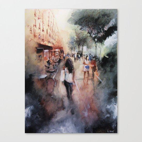 Promenade rue Saint-Martin Canvas Print