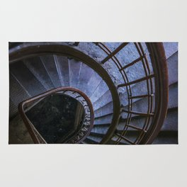 Spiral staircase in blue Rug