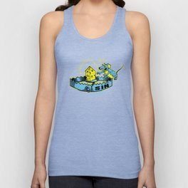 Sin Trap - Blue and Yellow Unisex Tank Top