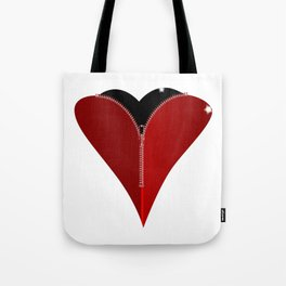 Zipper Heart Tote Bag