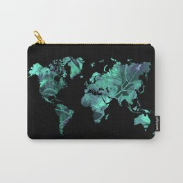 world map 77 blue Carry-All Pouch