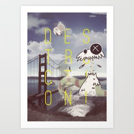 Destruction Series - Golden Gate Bridge Art Print