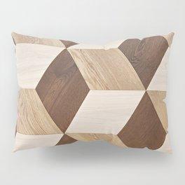 Wooden wall panel Pillow Sham