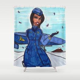 Flight to Winter Wonderland Shower Curtain