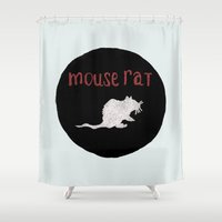 rat Shower Curtains featuring Mouse Rat by Shelby Ticsay