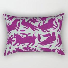 Otomi Magenta Rectangular Pillow