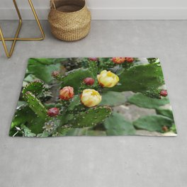 Cactus with flower Rug