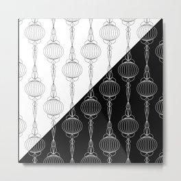 Art Deco 51 . Christmas decorations . Metal Print