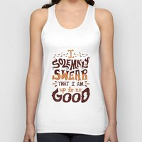 risa rodil Tank Tops featuring I am up to no good by Risa Rodil