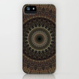 Mandala in brown tones iPhone Case