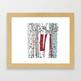 Birch Forest Yarn Bomb Framed Art Print