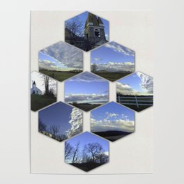 A Collage Of Winter In Frederick Maryland Poster