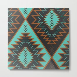 Navajo diamonds Metal Print