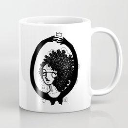 femme à lunettes. Coffee Mug