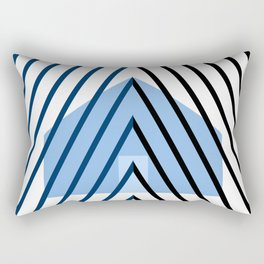 home sweet home on blue Rectangular Pillow