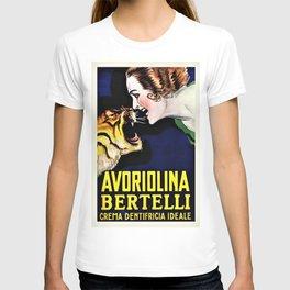 Vintage Avoriolina Bertelli Tiger Advertisement Wall Art T-shirt