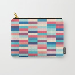 Blue and pink stripes Carry-All Pouch
