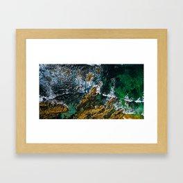 Ocean Waves Crushing, Digital Download, Drone Photography, Aerial Landscape Photo, Large Poster Framed Art Print