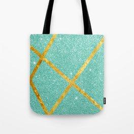 Shiny Water & Gold Tote Bag