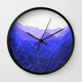 Blue Remembered Hills Wall Clock