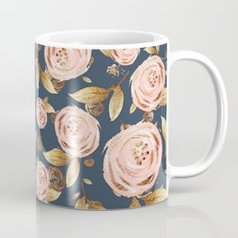 Pink and Gold Spring Floral Coffee Mug