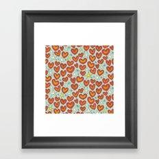 lightning hearts Framed Art Print